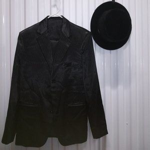 MR MYSTERIOUS MAGICIAN SUIT WITH TOP HAT COSTUME